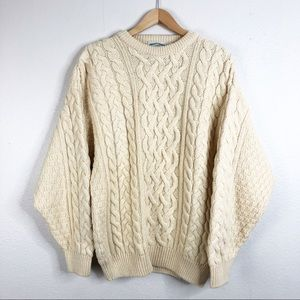 🌿Aran Crafts 100% Wool Irish Fisherman Cable Knit